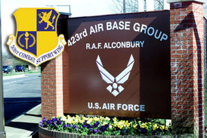 photo of the front of RAF Alconbury