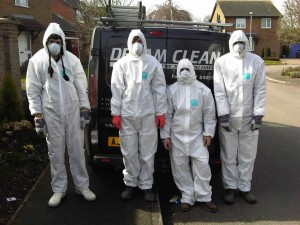 Photo of team in protective clothing