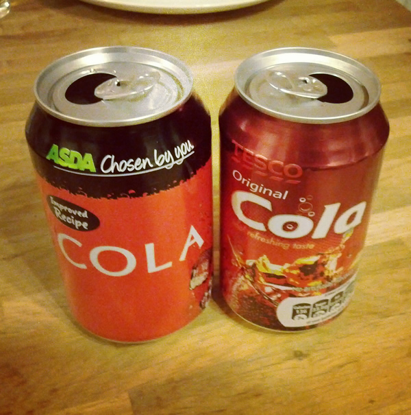 photo of cola cans